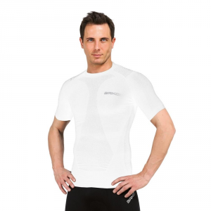 BRIKO Muscle Compression T-Shirt Unisex White Sports Underwear