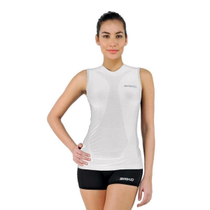 BRIKO Sleeveless T-Shirt For Woman Sports Underwear Muscle Compression White
