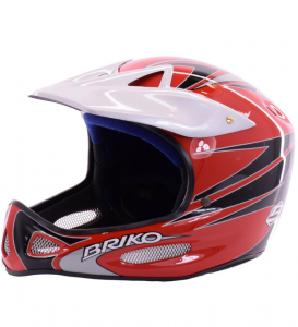 BRIKO VINTAGE Helmet For Downhill Skiing Unisex X Contract Red Gray