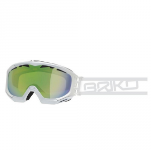 BRIKO Mask For Downhill Skiing And Snowboard Unsiex Kombact White