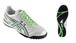 ASICS Shoes Man Soccer Tecnosoccer Warrior Ca Fluorescent Green White