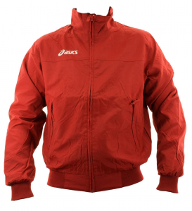 ASICS Unisex Lightweight Bomber Full Zip Perforated Lining Sailor Red