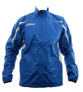 ASICS Windproof Jacket Unisex Track And Field Running Barcelona White Royal
