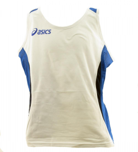 ASICS Athletic Top Running Woman Anversa White Royal Blue