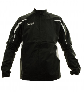 ASICS Running Jacket Windproof Unisex Black White Barcelona