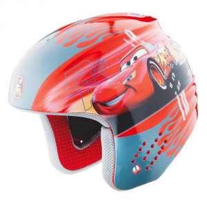 BRIKO Helmet For Downhill Skiing Junior Abs Rookie Diseny Cars Red