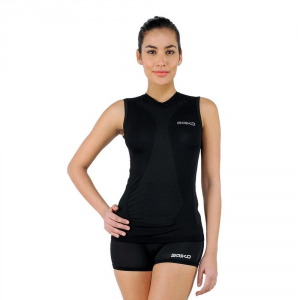 BRIKO Sleeveless T-Shirt For Woman Sports Underwear Muscle Compression Black