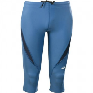 ASICS Pants 3/4 Tight Athletic Running Unisex Blue Monaco Royal