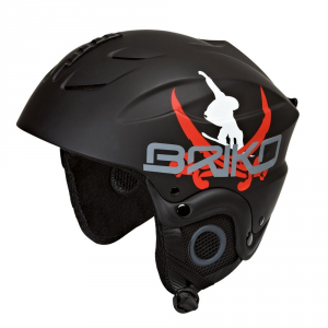 BRIKO Helmet For Downhill Skiing Junior Abs Pocket Pirate Black Red