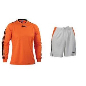ASICS Men'S Soccer Kit Knit Long Sleeve + Shorts Striker Orange