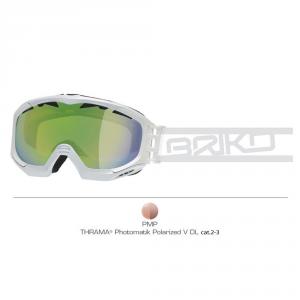 BRIKO Ski Mask Downhill Snowboard Unisex Kombat Evo White - Lens Pmp