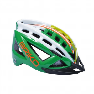 BRIKO Helmet Cycling Mountain Bike Unisex 5.0 Green Grass White