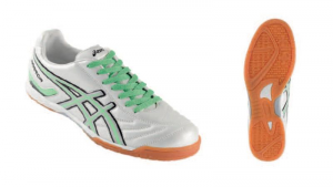 ASICS Indoor Soccer Shoes Man Tecnosoccer Warrior White Fluorescent Green