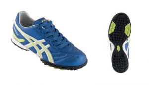 ASICS Junior Shoes For Indoor Soccer Asics Worrior Jr Ca Electric Blue Yellow