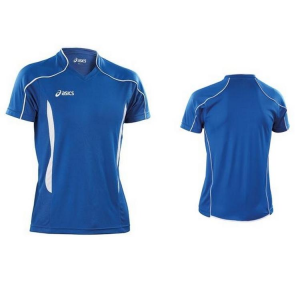 ASICS Volleyball Short-Sleeved Jersey Junior Volo Blue White
