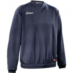 ASICS Sweatshirt Junior Sports Training Boswork Navy