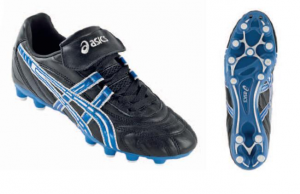 ASICS Shoes Football For Man Warrior Cs White Black Electric Blue