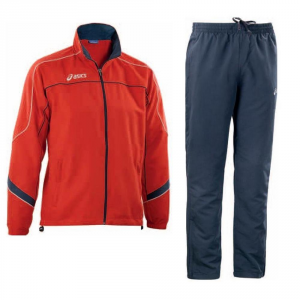 ASICS Outerwear Junior/Child: Jacket + Pants America Red Blue