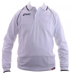 ASICS Polo Long Sleeves Unisex 100% Cotton Pique King White