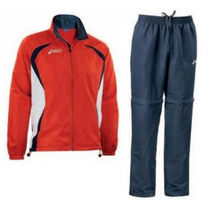 ASICS Unisex Jacket Outerwear Red + Blue Pants Ambassador