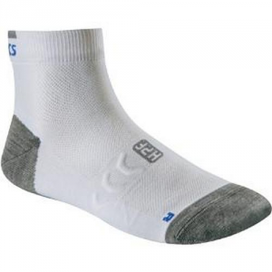 ASICS Pack Of 3 Pairs Short Athletic Socks Running White Grey
