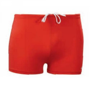 ASICS Boxer Swim Trunks Swimming Pool Junior 100% Lycra Donatello Rosso