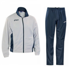 ASICS Junior Tracksuit Jacket + Pants Victor White Blue