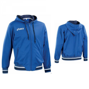 ASICS Jacket Outerwear Junior Hood Full Zip Tir Blue