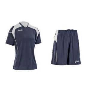 ASICS Soccer Football Kit Junior T-Shirt + Shorts Bonus Navy