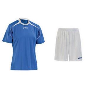 ASICS Soccer Football Kit Junior T-Shirt + Shorts Ribbling White Royal