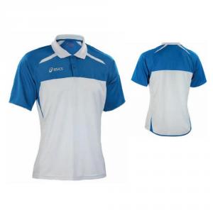 ASICS Pole Sleeves Junior Tennis Court White Royal Blue Boris