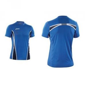 ASICS T-Shirt Athletic Running Shoes Ready Royal Blue Navy White