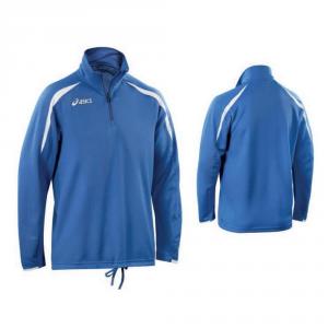 ASICS Sweat Sporty Zip Junior Short Workout Training Royal Blue