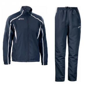ASICS Outerwear Men'S Jacket Pants Event Blue