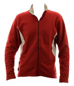 BRIKO Sweater Nording Walking Man With Zip Kola X-C Microfleece Red