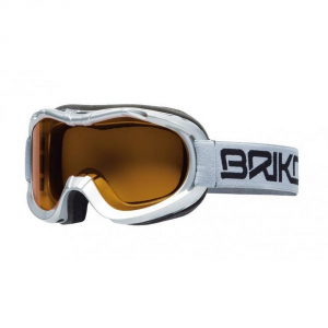 BRIKO Mask For Downhill Skiing With Antifog Lenses Junior Silver Mini Beetle