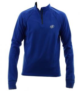 BRIKO Sweater Nording Walking Man Short Zip Losy Active Train Blue