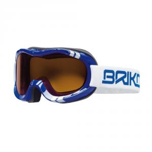 BRIKO Mask Downhill Ski Junior Cylindrical Lenses Blue Beetle
