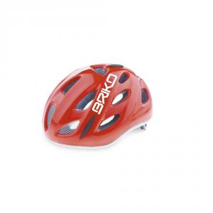 BRIKO Cycling Helmet Junior Racing Bike Roll Fit Pony Shiny Red