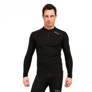 BRIKO Long Sleeve Sweater Winter Windproof Men Zip Windout Black