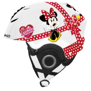 BRIKO Downhill Helmet Skiing Junior Abs Pocket Diseny Minnie White Red