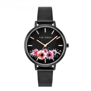 JULIE JULSEN FLOWER ALL BLACK
