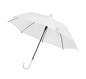 Ombrello Bianco da Sposa automatico da sposa con salvagoccia cm.85h diam.103