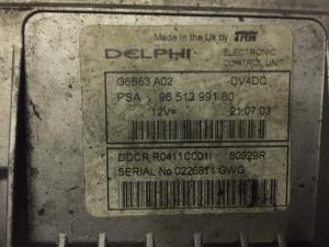 ECU Centralina motore Citroen Peugeot  DELPHI DDCR R0411C001I 80929R