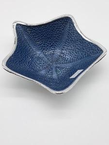 Ciotola centrotavola stella marina in cristallo argentato | GIOIELLERIA BRUNI Imperia