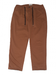 Pantalone Amish con coulisse color bruciato