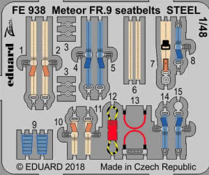 Meteor FR.9 seatbelts STEEL