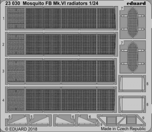 Mosquito FB Mk. VI radiators