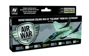 Soviet/Russian Colors MiG-29 Fulcrum from 80s to present