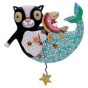 Orologio Gatto-Sirena Mercat (p1552)
